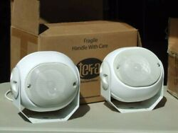 Terra AC.15e.P All Climate Series Outdoor Speakers in White Never installed Nice