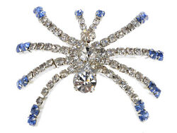 Austrian Crystal Rhinestone Halloween Creepy Spider Insect Fashion Pin Brooch