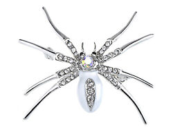 Enamel Crystal Rhinestone Halloween Spider Fashion Jewelry Pin Brooch