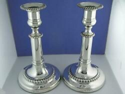 George Iii Silver Candlesticks By John Roberts And Co Sheffield C1813