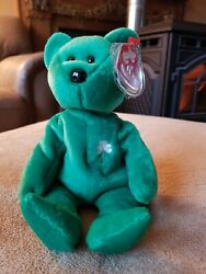 Erin The Irish🍀 Bear Beanie Babies Ty Mint Tags Excellent Condition