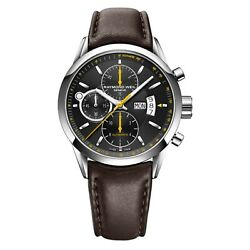 Raymond Weil Freelancer Chronograph Brown Leather Menand039s Watch 7730-stc-20021
