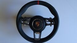 991.2 Pdk Multi Function New Style Blk Red Top Steering Wheel And A- Bag Fit 991.1