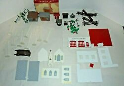 Bachmann Plasticville Houses,stations,signs,lamp Posts And More Oands Scale Big Lot