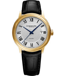 Raymond Weil Maestro Automatic Silver Dial Leather Menand039s Watch 2237-pc-00659