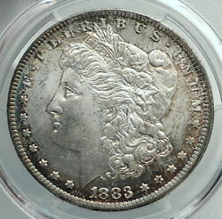 1883 United States Of America Silver Morgan Us Dollar Coin Eagle Pcgs Ms I78881
