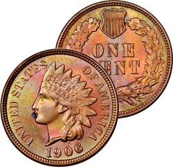 1906 Indian Head One Coin Toned Choice Bu Unc Ms