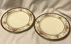 Noritake China 9720 Brently Set Of 2 Bread Butter Side Plates 6.25