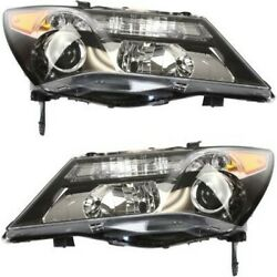 Headlight Set For 2010 2011 2012 2013 Acura Mdx Left And Right Hid 2pc