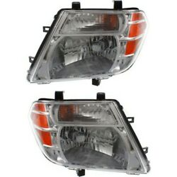 Headlight Set For 2008-2012 Nissan Pathfinder Left And Right With Bulb Capa 2pc