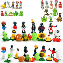 Plants vs Zombies PVC Action Figures Toys Gift Set Birthday Party Cake Topper