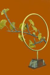 Rare Find Abstract Surrealism Signed Bronze Metal Sculpture Mid Century Modern