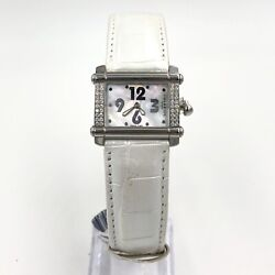 Charriol Diamond Mother Of Pearl Leather Stainless Womenand039s Quartz Watch Cchs