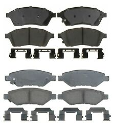 Front And Rear Ceramic Brake Pad Sets Kit Acdelco Pro For Caddilac Srx 2010