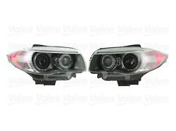 Pair Set of 2 Front Xenon w/ Adapt. Headlights Lamps Valeo For BMW BMW E82 E88