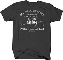 Our greatest glory… failure rising confucius quote T-shirt for men