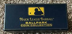 16 Different Mlb Stadium 24kt Gold Overlay Coins - With Box - Take A Look