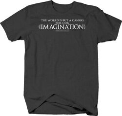 The world is but a canvas for our imagination Henry David Thoreau T-shirt