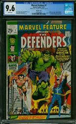 Marvel Feature #1 CGC 9.6 1971 1st Defenders! DOUBLE Cover! RARE! K6 192 cm