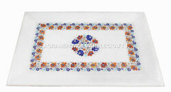 11x16 Marble Serving Tray Plate Hakik Floral Inlaid Marquetry Gift Decor H1407