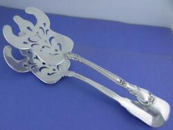 Rare Old Sterling Gorham Asparagus Serving Tongs Chantilly 1895 W/ Pat Date