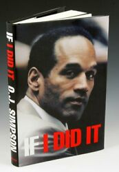RARE ~OJ SIMPSON ~ If I Did It - The True First Edition w First Ed Line # 2006