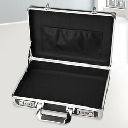 Aluminum Hard Case Box Briefcase Toolbox Storage Box Cases Black Carrying Cases