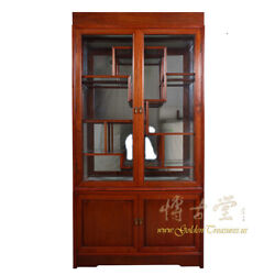 Chinese Antique Rosewood Display/curio Cabinet 17lp07