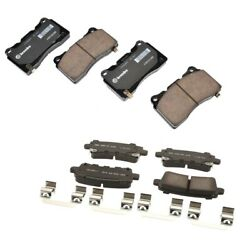 Front And Rear Brake Pad Sets Kit Acdelco For Cadillac Xts Platinum Luxury Awd J64