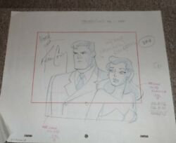 Batman Animated Series Original Rare Production Layout Drawing Sequence Signed