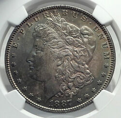 1887 United States Of America Silver Morgan Us Dollar Coin Eagle Ngc Ms I79608