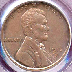 1915-s 1c -nice Brown Toning- Lincoln Wheat Cent Penny++