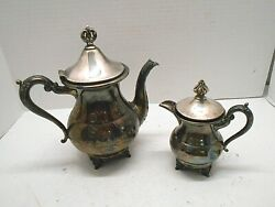Sheffield Plate Usa Tea And Creamer Pots And039s 864 Vintage Antique Collectibles