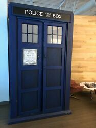 Doctor Who Life-Size Wooden Tardis: Whovian Booth British Good Condition