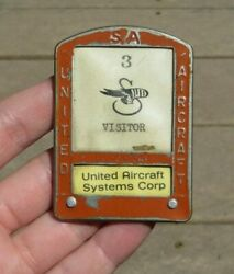 Ww2 Sikorsky United Aircraft Manufacturer Id Identification Employee Badge Pin