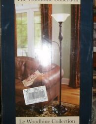 The Woodbine Collection Bronze Repeat 72quot; Floor Lamp with Side Light New