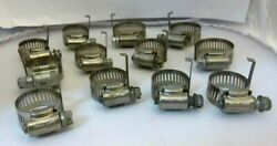 Ideal Corp Hy Gear Auto High Pressure Hose Clamps With Retaining Clip Lot Of 12