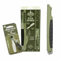 Grenade Soap Co Tactical Toothbrush - Rugged Field-use Brush Survivalist Tool