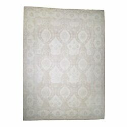 14'x19' Oversize Stone Wash Oushak Design Pure Wool Hand-Knotted Rug R44123