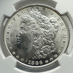 1886 United States Of America Silver Morgan Us Dollar Coin Eagle Ngc Ms I79832