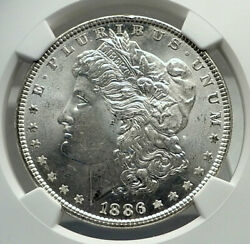 1886 United States Of America Silver Morgan Us Dollar Coin Eagle Ngc Ms I79838