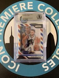 2019 Custom Steph Curry 1/1 Auto Bgs Authentic Golden State Warriors