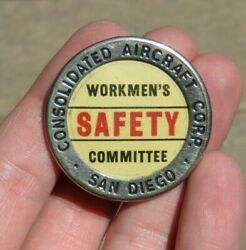Ww2 Consolidated Aircraft Manufacturer Id Identification Employee Badge Pin