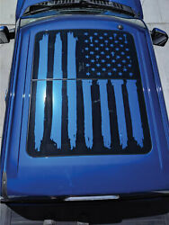 2018 Ford F-250 F-350 Dual Panel Moonroof Tattered Flag Vinyl Decal Graphics Sun