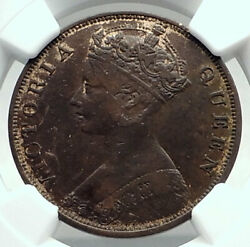 1877 Hong Kong British Colony Queen Victoria Genuine Antique Cent Coin I79815