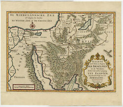 Antique Map-middle East-israel-palestine-40 Years-coloured-calmet-keizer-1725