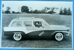 1957 Studebaker President 2 Door Station Wagon 12 X 18 Black And White Picture