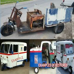 50s Westcoaster Mailster - Vintage 3 Wheel Mail Truck
