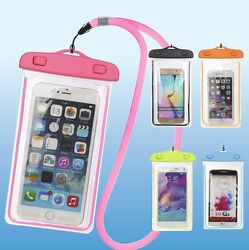Underwater Waterproof Bag Pack Dry Clear Back Phone Pouch For Cellphone up to 7quot; $5.99