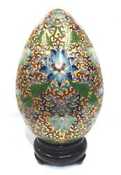 Handmade Raised Chinese Cloisonne Collectible Egg